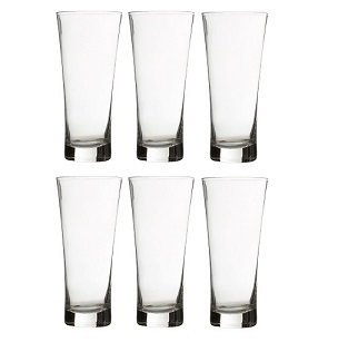 Prime Furnishing Hi Ball Glass, Clear, 480ml - Set Of 6