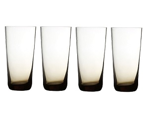 Prime Furnishing Tumbler, Smoked, 460ml, Set Of 4