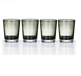 Prime Furnishing Mixer Glass, Coloured - Set Of 4