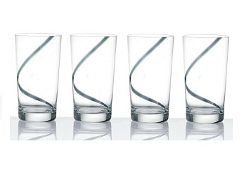 Hi-Ball Glass, Swirl - Set 0f 4