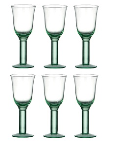 Wine Goblet, Green set of 6