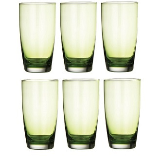 Hi-Ball Glass, Green - Set Of 6