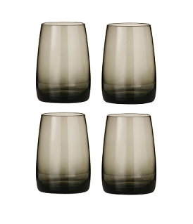 Prime Furnishing Crescendo Tumblers, Smoke Grey, Set of 4