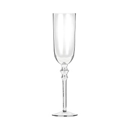 Tessa Champagne Glasses - Clear, Set of 4