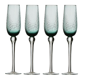 Premier Housewares Champagne Flutes - Set of 4 - Blue Nile [Kitc