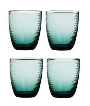 Premier Housewares Glass Tumblers - Set of 4 - Blue Nile [Kitche