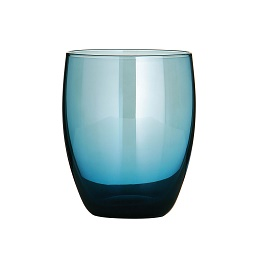 Premier Housewares Glass Tumblers - Set of 4 - Blue Lustre [Kitc