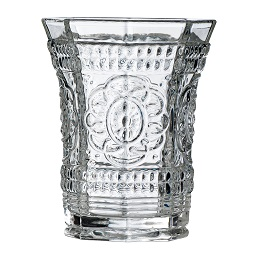 Baroque Tumbler, Clear Glass
