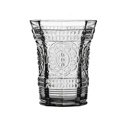 Baroque Tumbler, Smoked Glass