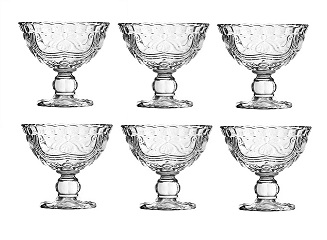 Imperial Sundae Dish, Clear Glass - Set Of 6