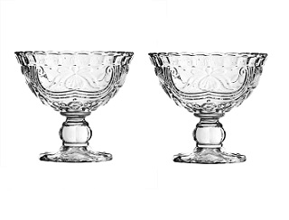 Imperial Sundae Dish, Clear Glass - Set Of 2