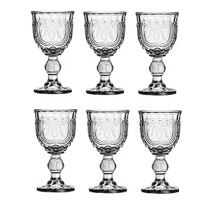 Imperial Wine Glass, Smoked - Set Of 6