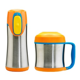 Prime Furnishing Contigo Kids' Food Jar &Travel Mug, 300ml- Oran