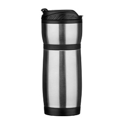 Travel Beaker, Stainless Steel/Plastic, 480ml