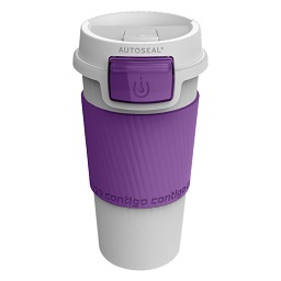 Prime Furnishing Contigo Morgan Autoseal Mug, White/Lilac