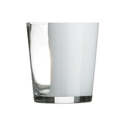 Ice Bucket, Clear/White Glass