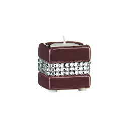 Radiance Small Candle Holder, Purple/Diamante Detail
