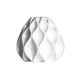 Vase Polyresin White High Gloss Finish Available In 3 Sizes (Sma