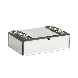 Mirrored Jewellery Box with Jewel Detail