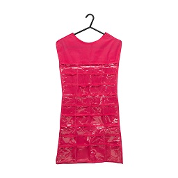 Prime Furnishing Dress Jewellery Organiser - Hot Pink