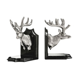Prime Furnishing Deer Head Bookends - Brown - Set of 2