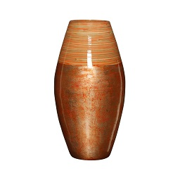 Prime Furnishing Complements Bamboo Vase - Red & Natural