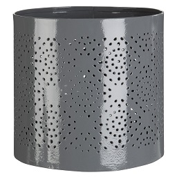 Prime Furnishing Complements Hurricane Small Candle Holder -Grey