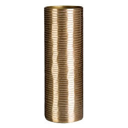 Prime Furnishing Complements Aluminium Vase With Brass Finish