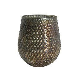 Prime Furnishing Complements Small Candle Holder, Gold Finish