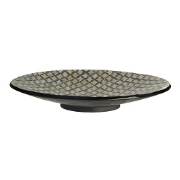 Prime Furnishing Complements Round Plate, Occo Mosaic, Shell