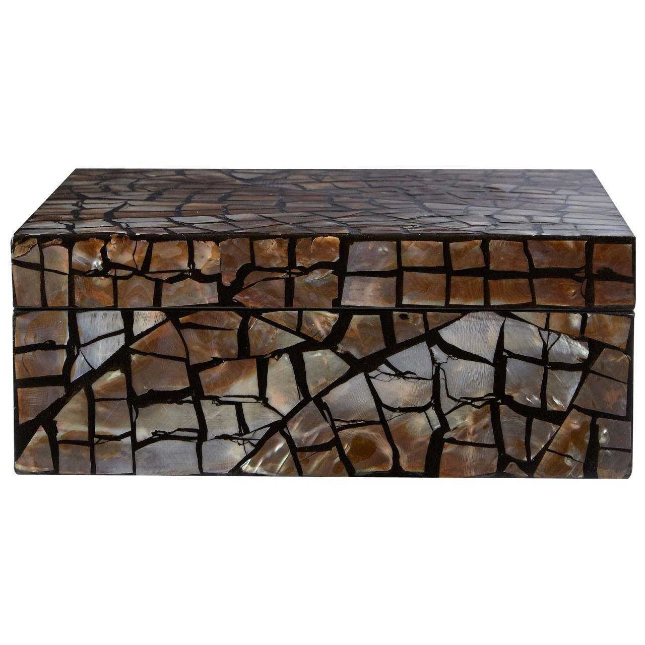 Prime Furnishing Complements Square Box, Crackle Mosaic