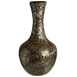 Prime Furnishing Complements Bottle Vase, Crackle Mosaic