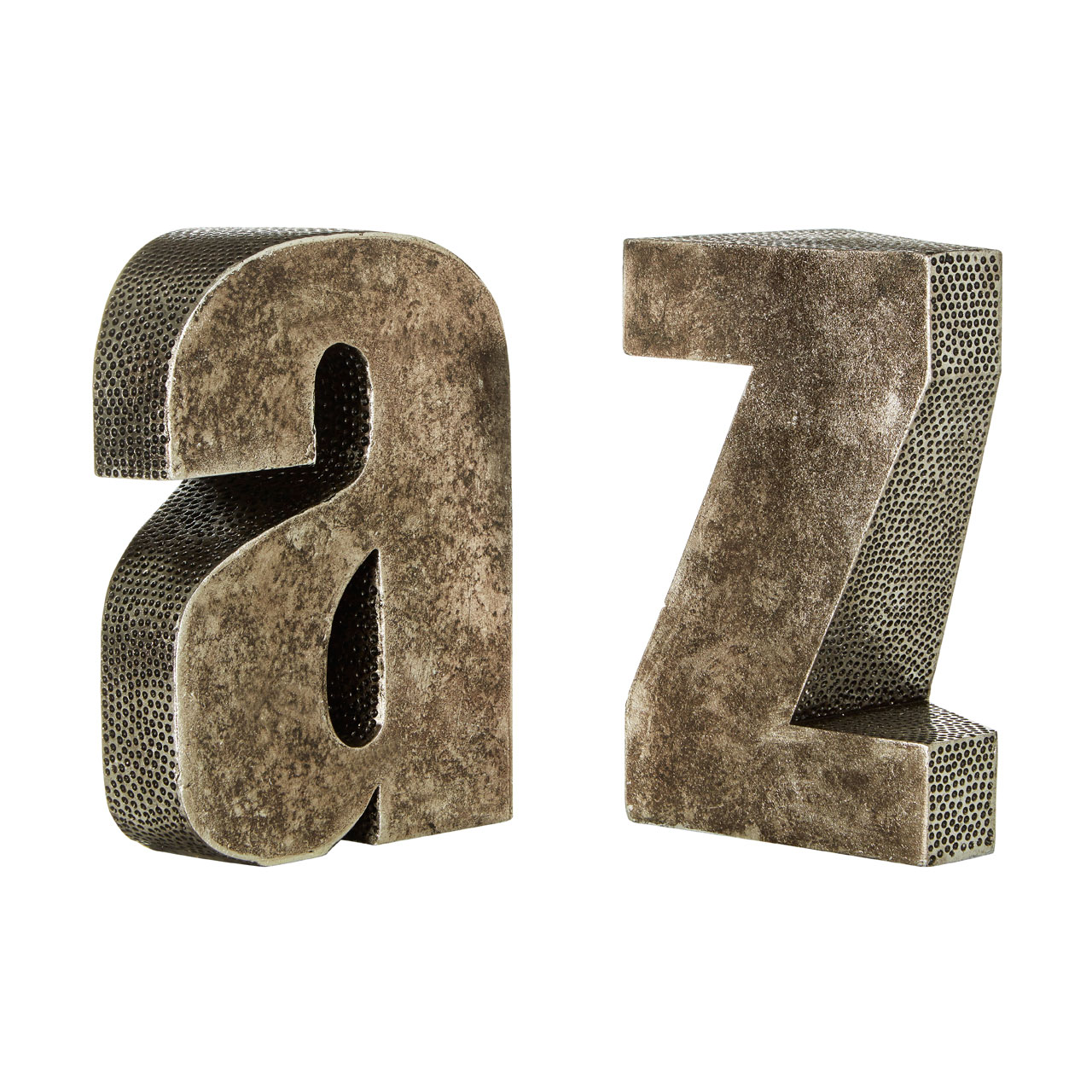 Prime Furnishing A Z Bookends - Silver