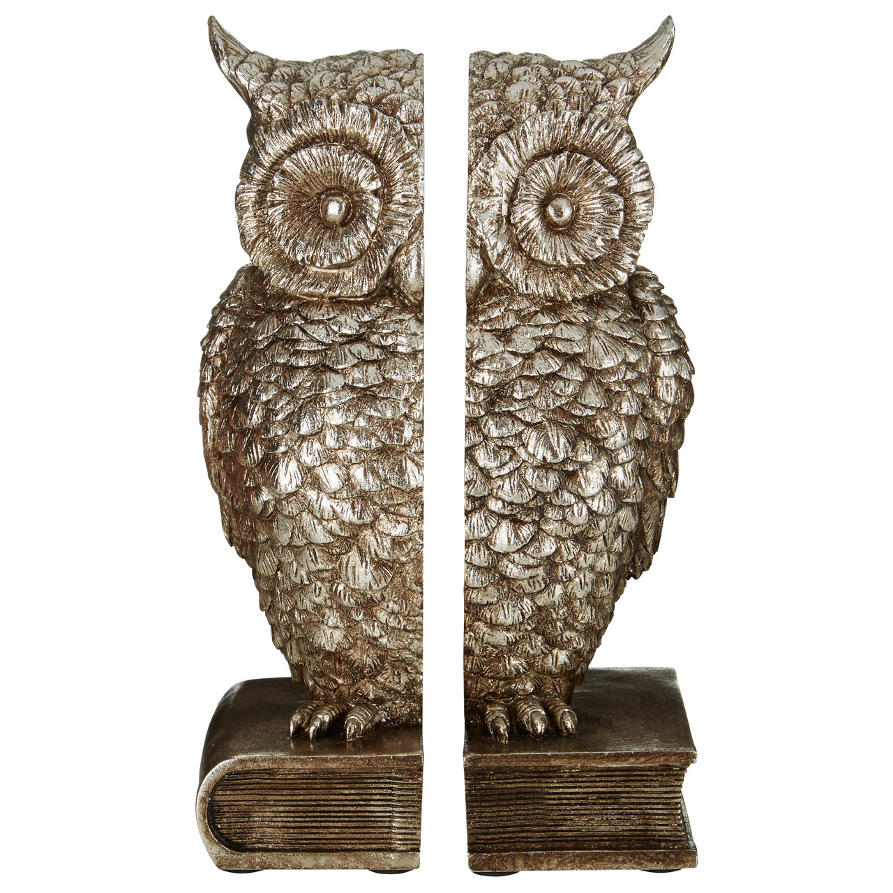 Prime Furnishing Owl Bookends - Silver
