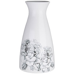 Prime Furnishing Bloom Vase, Dolomite - White/Black