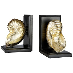 Prime Furnishing Seashell Bookends - Gold - Set of 2