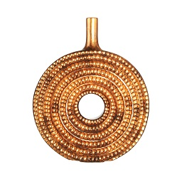 Prime Furnishing Complements Round Vase, Burnished Copper