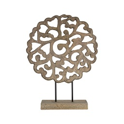 Prime Furnishing Complements Wooden Sculpture - Grey Finish