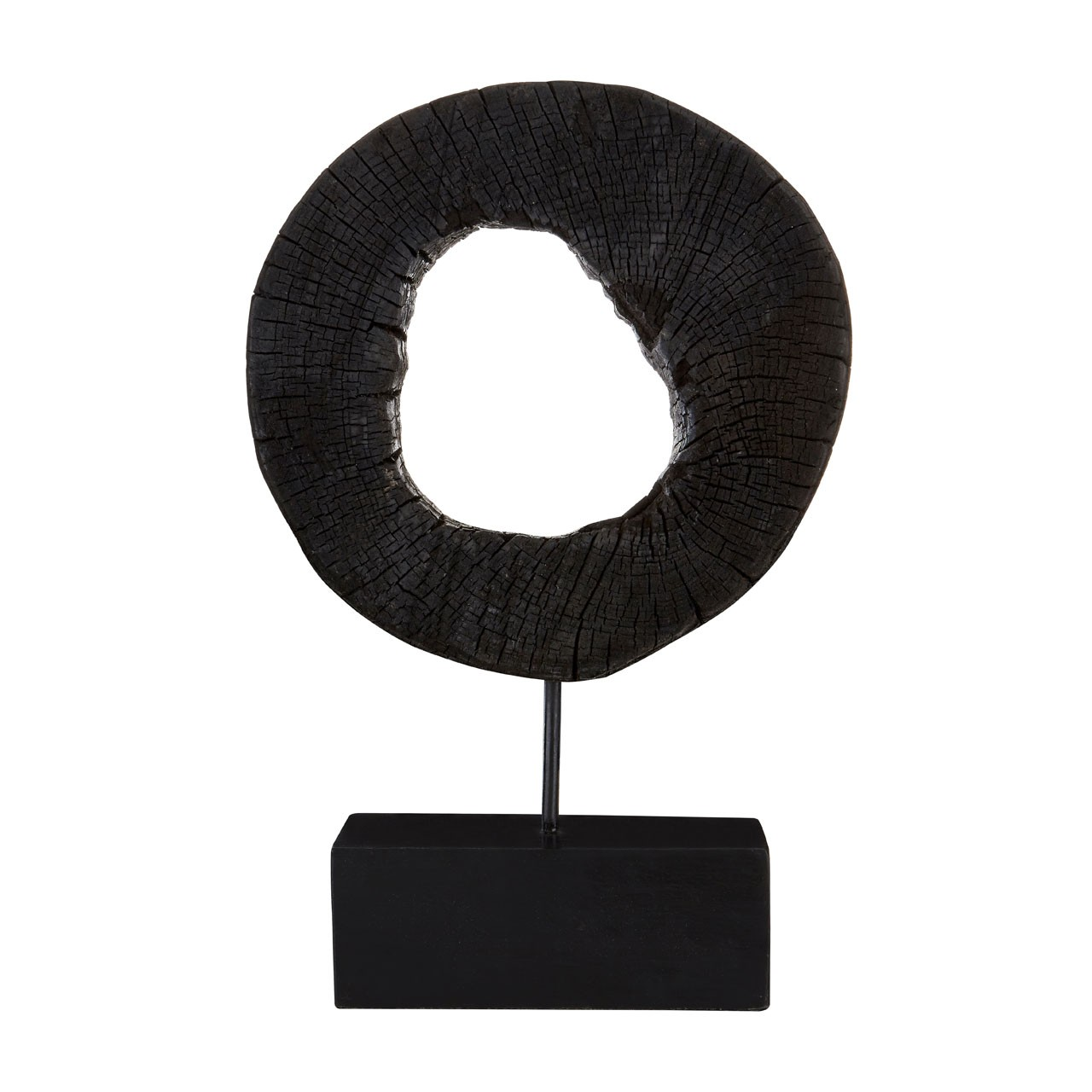 Prime Furnishing Complements Rustic Sculpture On Stand - Black