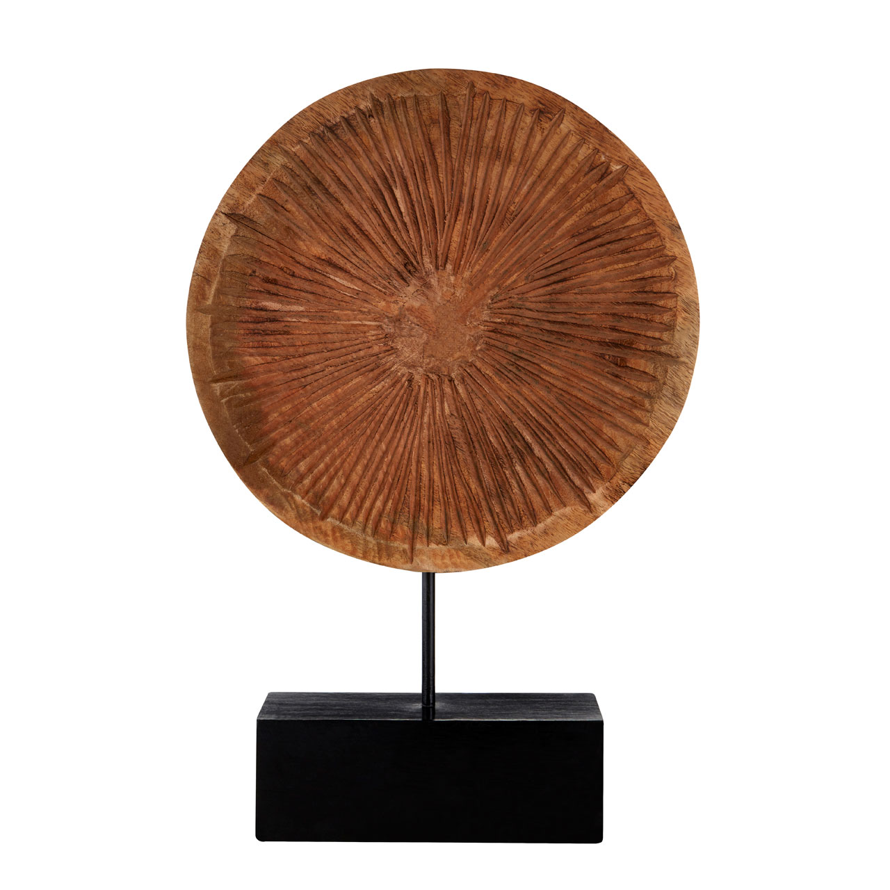 Prime Furnishing Complements Large Disc On Stand Carved Wood