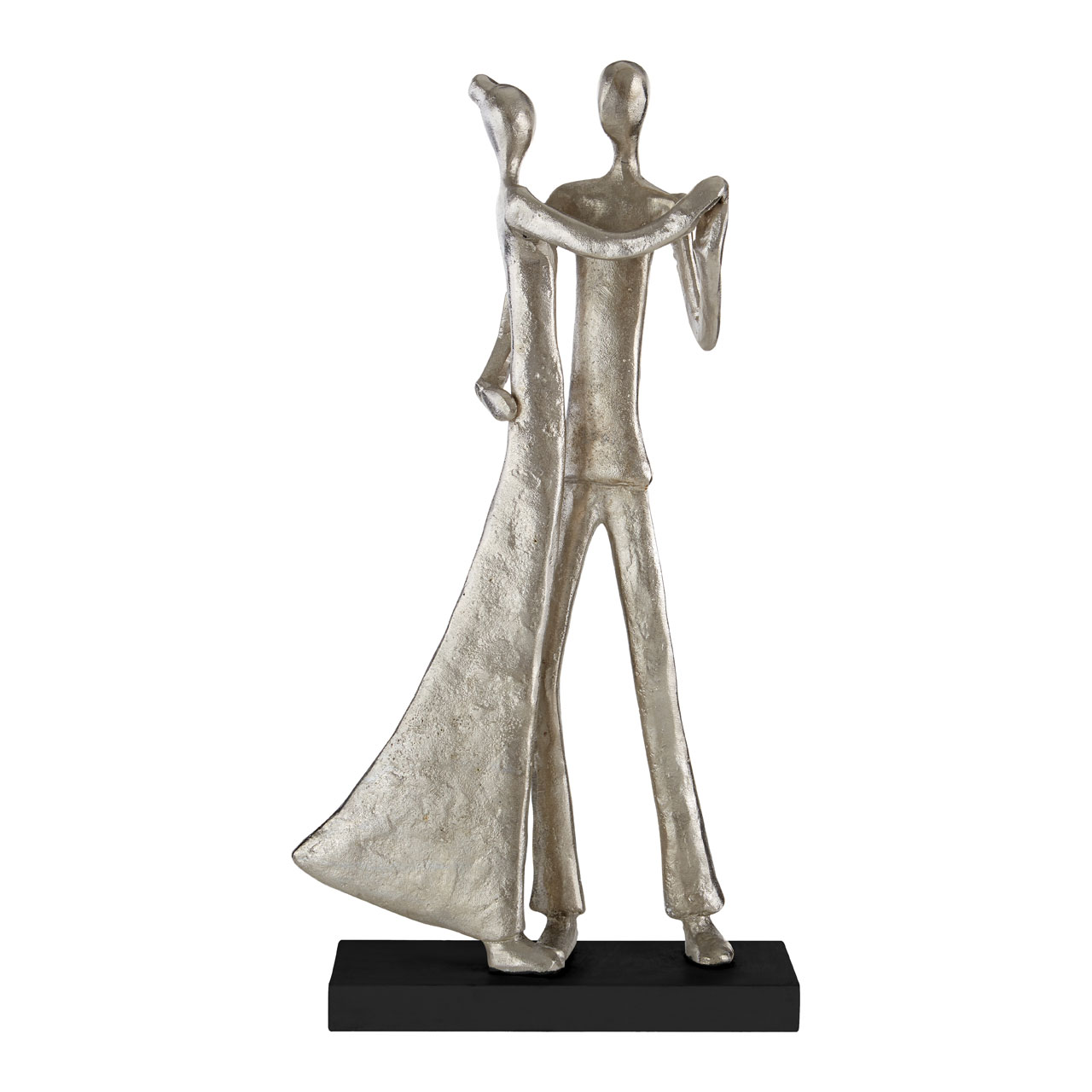 Prime Furnishing Complements Waltzing Couple Figurine - Silver
