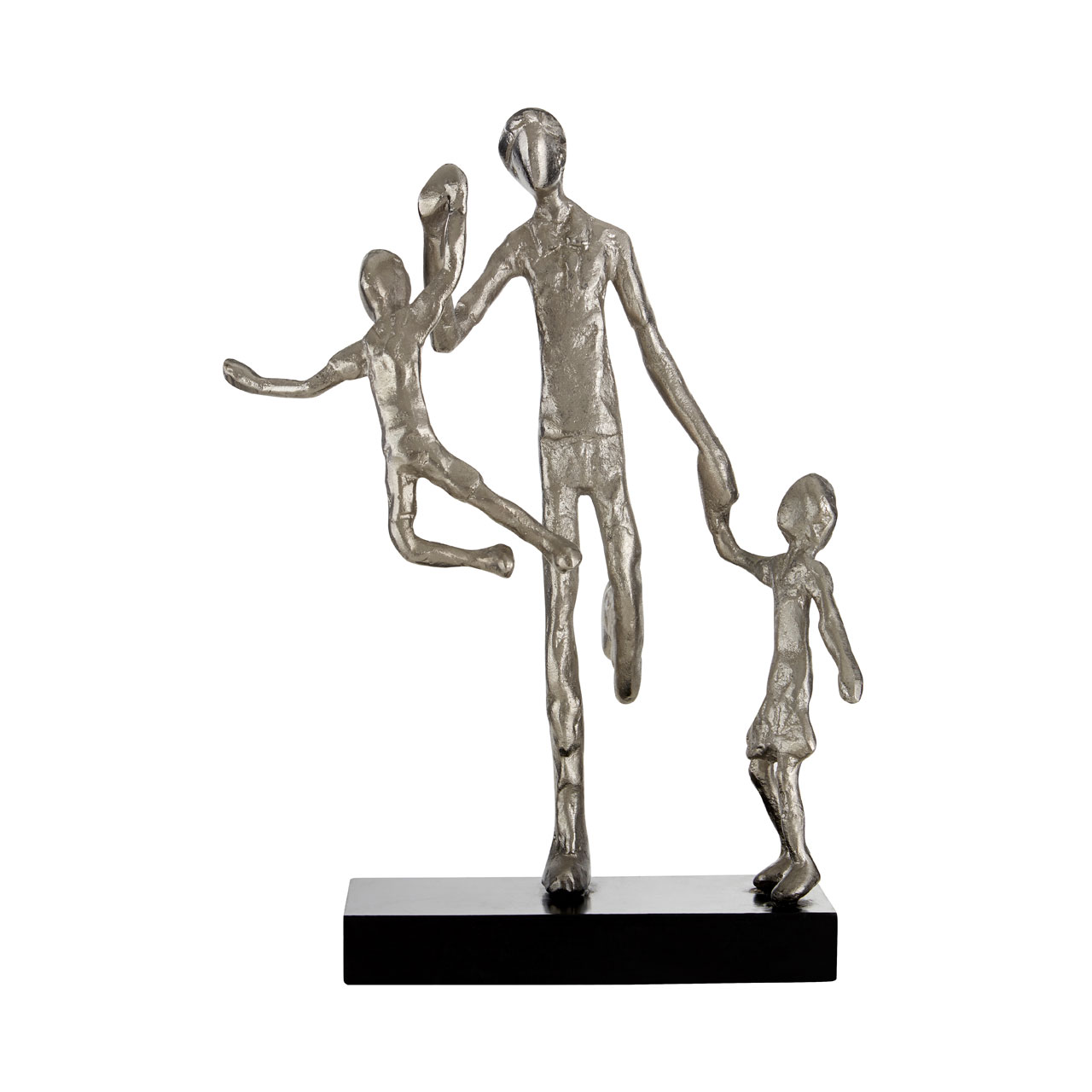 Prime Furnishing Complements Family Figurine - Silver/Black