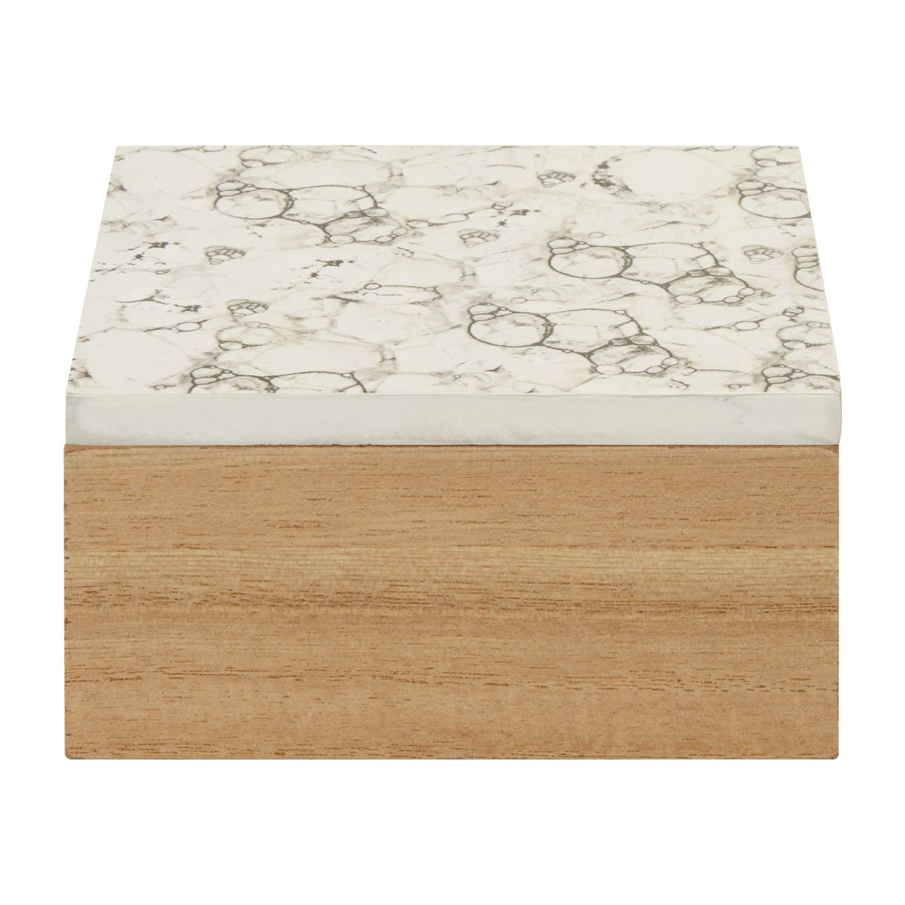 Mimo White Marble Effect Trinket Box
