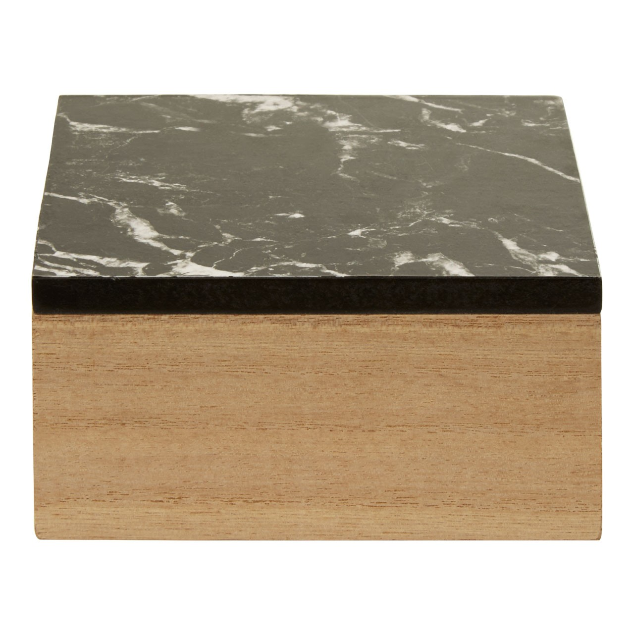 Mimo Black Marble Effect Trinket Box
