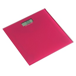 Square Tempered Glass Bathroom Scale- Pink