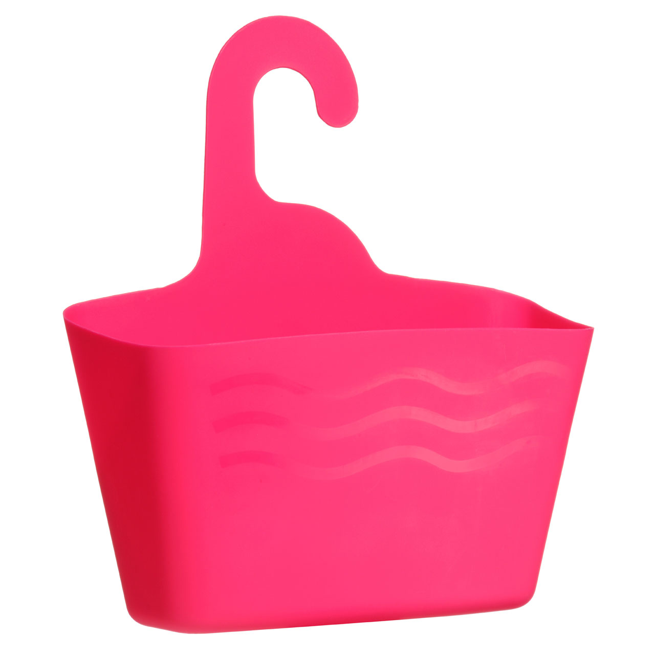 Prime Furnishing Hanging Storage Caddy, Plastic -Hot Pink
