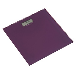 Prime Furnishing Tempered Glass Bathroom Scale - Purple