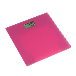 Prime Furnishing Tempered Glass Bathroom Scale - Pink