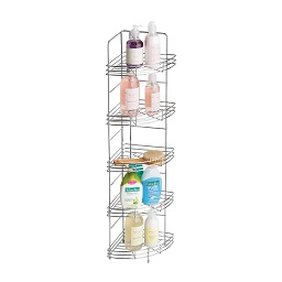 5-Tier Chrome Corner Storage Rack