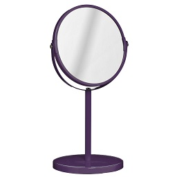 Prime Furnishing Swivel Mirror With Magnifying Option - Purple